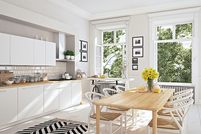 cocina nórdica y escandinava estilo arquitectónico amplitud y plantas