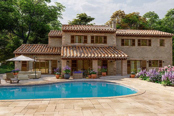 estilo arquitectónico casa mediterránea casa independiente