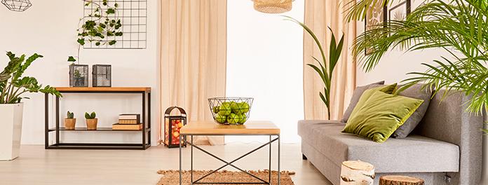 Vivienda segregada en Madrid. Imagen de un salón moderno y de estilo minimalista