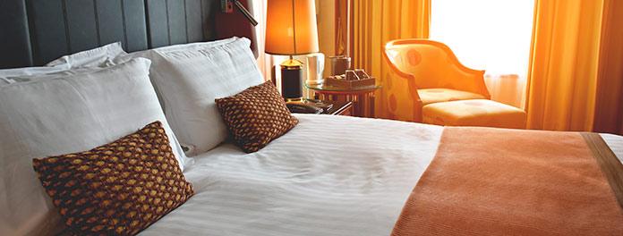 Habitación de un hotel en Madrid